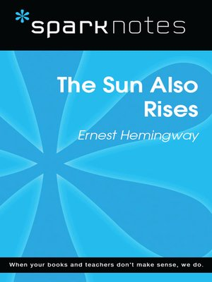cover image of The Sun Also Rises: SparkNotes Literature Guide