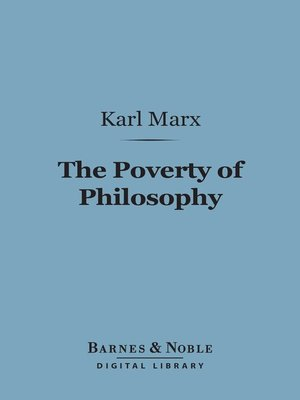 cover image of The Poverty of Philosophy