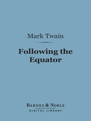 cover image of Following the Equator