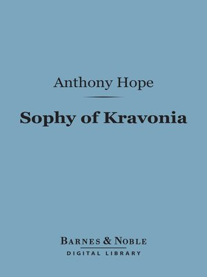 cover image of Sophy of Kravonia