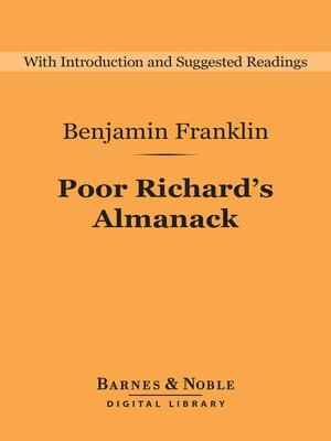 cover image of Poor Richard's Almanack