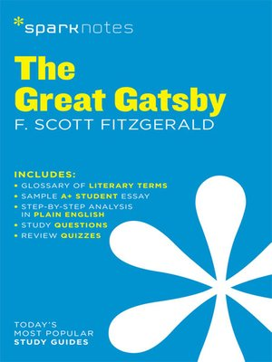 cover image of The Great Gatsby SparkNotes Literature Guide