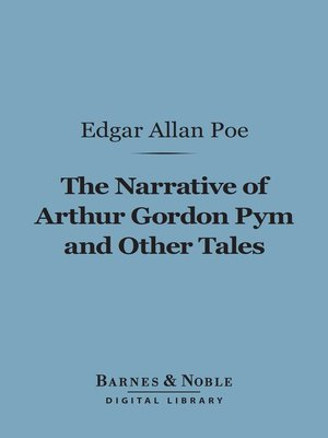 cover image of Narrative of Arthur Gordon Pym and Other Tales