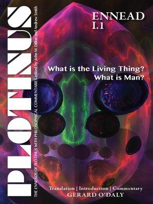 cover image of PLOTINUS, Ennead I.1