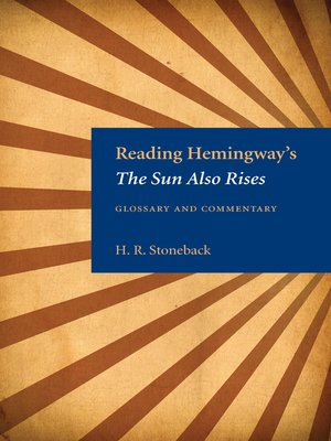 cover image of Reading Hemingway's the Sun Also Rises