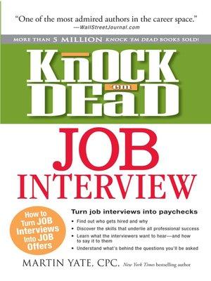 cover image of Knock em Dead Job Interview