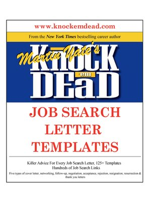 cover image of Knock Em Dead Job Search Letter Templates