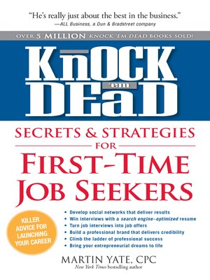 cover image of Knock'em Dead Secrets & Strategies for First-Time Job Seekers