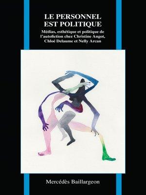 cover image of Le personnel est politique