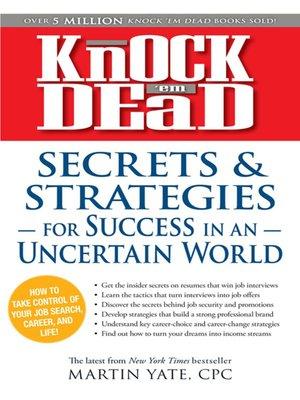 cover image of Knock 'em Dead Secrets & Strategies