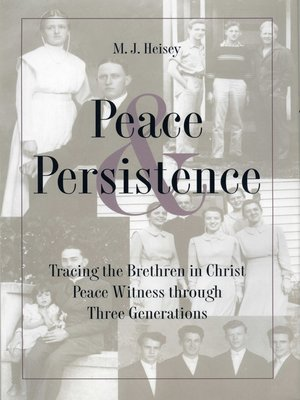 cover image of Peace and Persistence