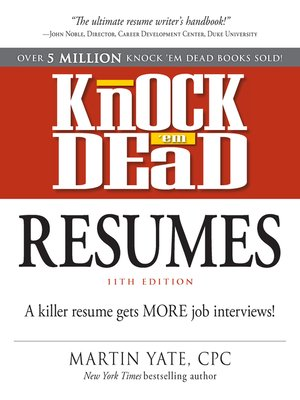cover image of Knock Em Dead Resumes