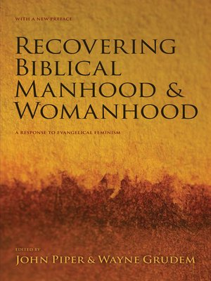 cover image of Recovering Biblical Manhood and Womanhood