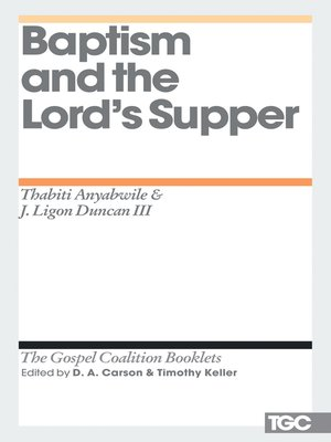 cover image of Baptism and the Lord's Supper