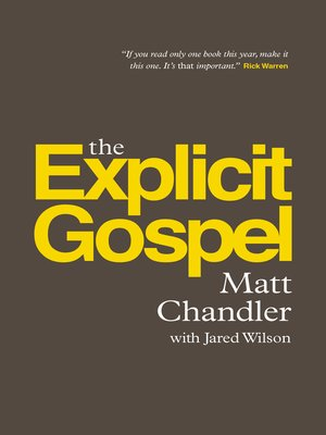 cover image of The Explicit Gospel
