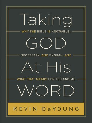 cover image of Taking God At His Word