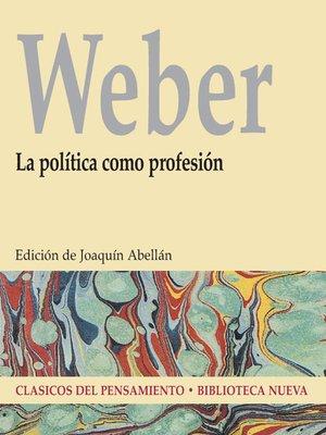 cover image of La política como profesión