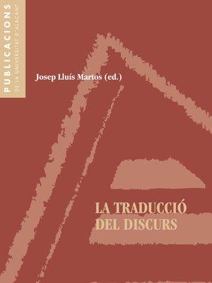 cover image of La traducció del discurs
