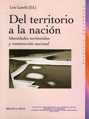 cover image of Del territorio a la nación