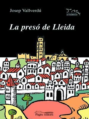 cover image of La presó de Lleida