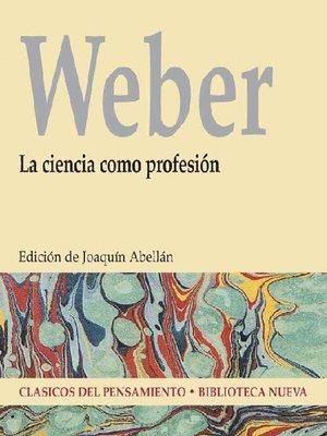 cover image of La ciencia como profesión