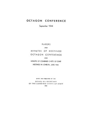 cover image of The Octagon Conference: September 1944