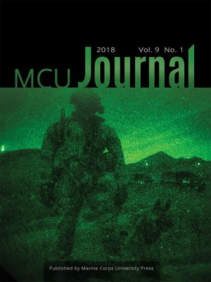 cover image of Marine Corps University Journal, Volume 9, Number 1