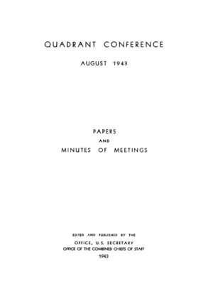 cover image of The Quadrant Conference: August 1943