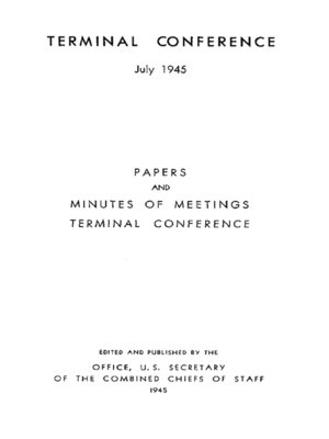 cover image of The Terminal Conference: July - August 1945
