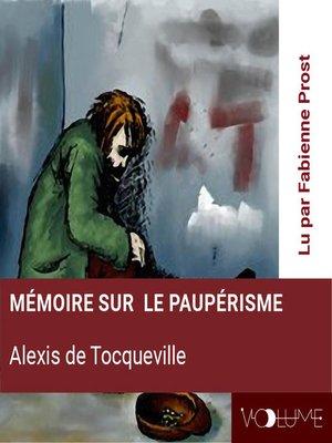cover image of Mémoire sur le paupérisme