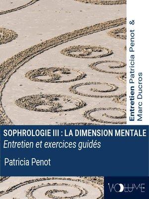 cover image of Sophrologie 3 - La dimension mentale