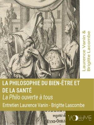 cover image of La philosophie du bien-être et de la santé