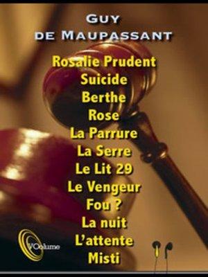 cover image of 12 Nouvelles Fantastiques-Maupassant