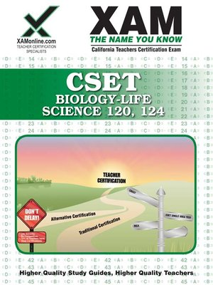 cover image of CSET Biology-Life Science 120, 124