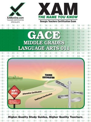 cover image of GACE Middle Grades Language Arts 011