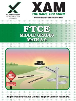 cover image of FTCE Middle Grades Math 5-9