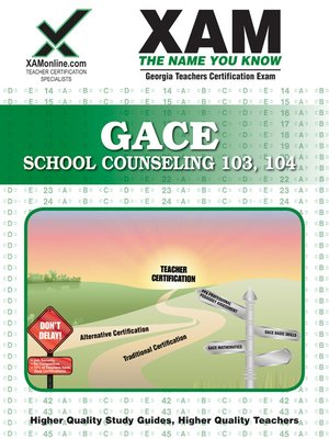 cover image of GACE School Counseling 103, 104