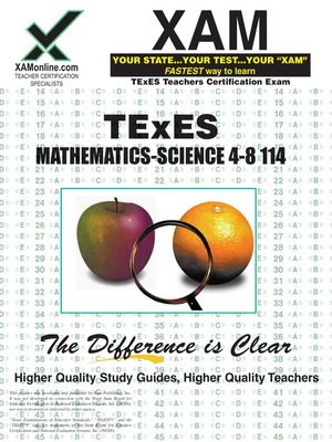 cover image of TExES Mathematics-Science 4-8 114