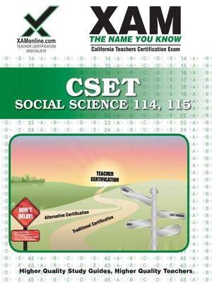 cover image of CSET Social Science 114, 115