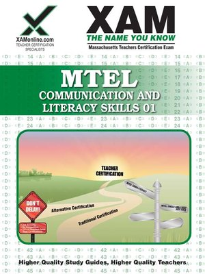 cover image of MTEL Communication and Literacy Skills 01