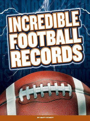 cover image of Incredible Football Records