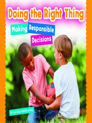 cover image of Doing the Right Thing