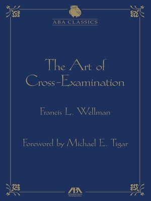 cover image of The Art of Cross Examination