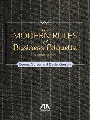 cover image of Modern Rules of Business Etiquette
