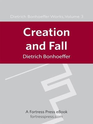 creation and fall bonhoeffer pdf