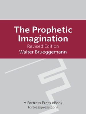 cover image of The Prophetic Imagination