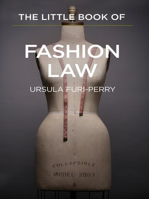 cover image of The Little Book of Fashion Law