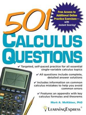 501 Calculus Questions by Mark McKibben · OverDrive (Rakuten