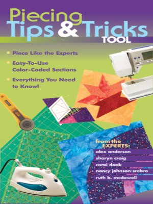 cover image of Piecing Tips & Tricks Tool