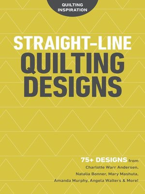cover image of Straight-Line Quilting Designs